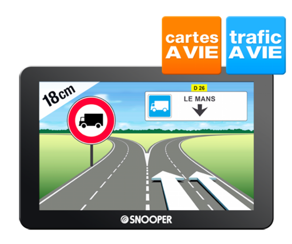 gps poids lourd pl6600 snooper itin raires tablis pour camions. Black Bedroom Furniture Sets. Home Design Ideas