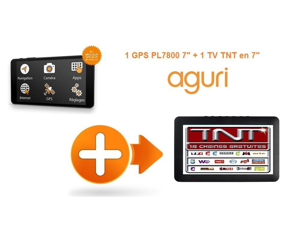 pack gps camion tv tnt pl7800 gps aguri 7 pouces poids lourd. Black Bedroom Furniture Sets. Home Design Ideas