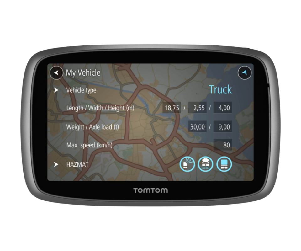 tomtom trucker 6000. Black Bedroom Furniture Sets. Home Design Ideas